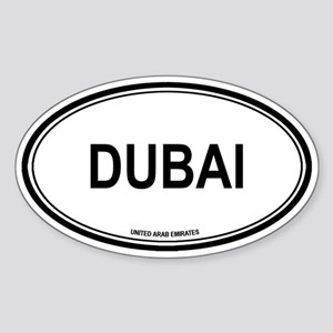 Dubai, United Arab Emirates e Oval Sticker