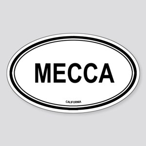 Mecca oval Oval Sticker