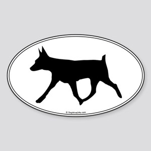 AHT Silhouette Oval Sticker