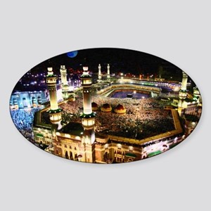 holly mecca during hajj Sticker (Oval)