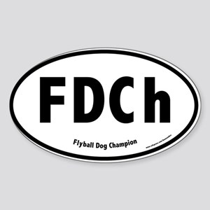 FDCh, Flyball Dog Champion, 500 Oval Sticker