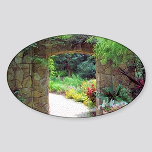 Stone Door Path Sticker (Oval)