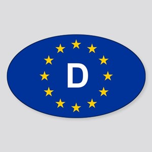 EU Germany Sticker (Oval)