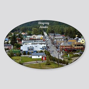 Skagway, Alaska scenic photo Sticker (Oval)