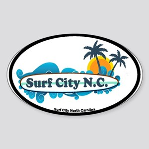 Surf City NC - Surf Design Sticker (Oval)