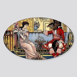 Beauty and The Beast having Tea by Walter Sticker