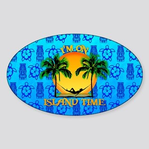 Island Tiki Time Sticker