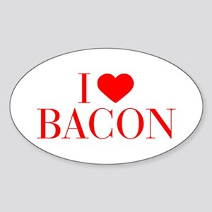 I love Bacon-Bau red 500 Sticker