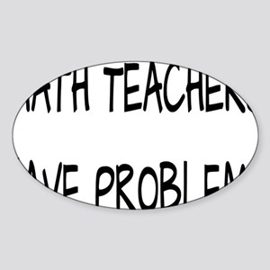 problemsrectangle Sticker (Oval)