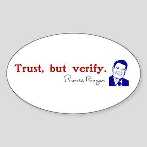 Ronald Reagan Trust But Verify Stickers Cafepress