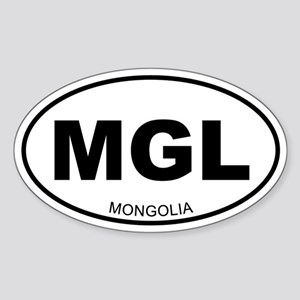 Mongolia Oval Sticker