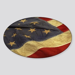 Distressed Vintage American Flag Sticker