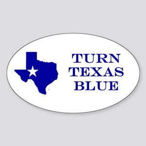 Turn Texas Blue Stkr Sticker