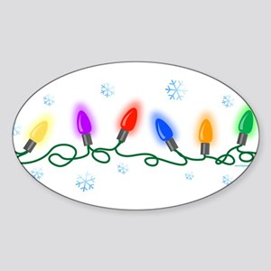 Holiday Lights Sticker (Oval)