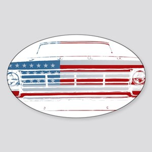 RED, WHITE AND BLUE F100 Sticker