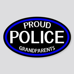 Police: Proud Grandparents (The Thi Sticker (Oval)