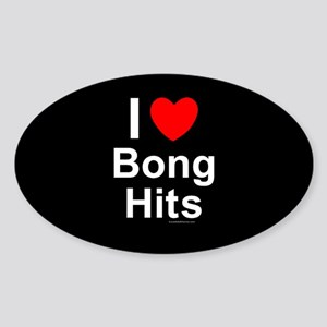 Bong Hits Sticker (Oval)