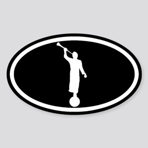 LDS: The Angel Moroni (Black) Sticker (Oval)