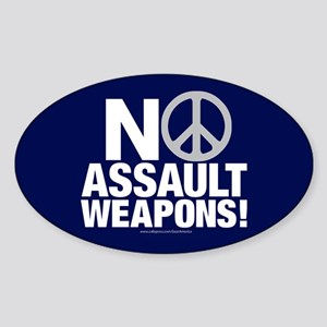 Ban Assault Weapons Oval Sticker