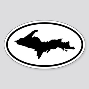 Upper Peninsula Oval Sticker (B&W)