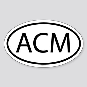 ACM Oval Sticker