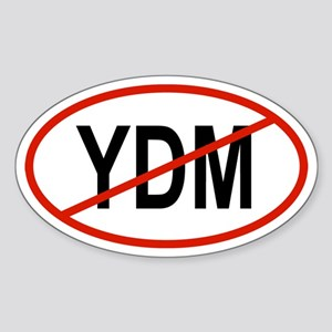 YDM Oval Sticker