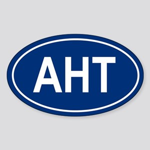 AHT Oval Sticker