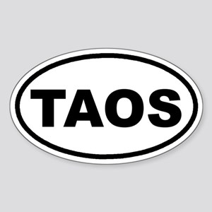 TAOS, New Mexico Euro Oval Sticker