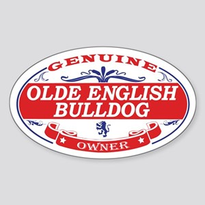 Olde English Bulldog Owner Sticker (Oval)