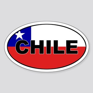 Flag of Chile Oval Sticker