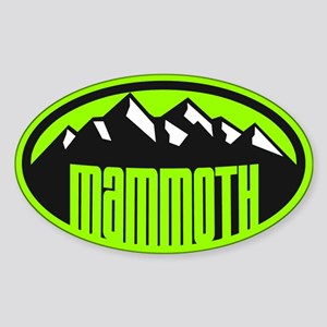 Mammoth Mtn Sticker (Oval)