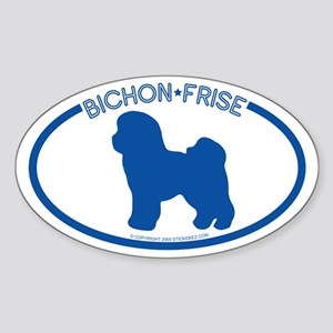 """Bichon Frise"" - Oval Sticker"