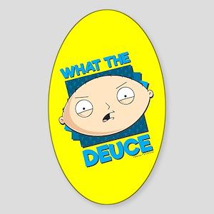 b9e1b57b1cd2 Family Guy What the Deuce Sticker (Oval)