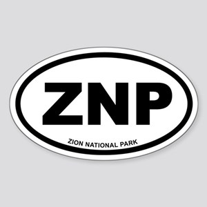 Zion National Park Euro Oval Sticker