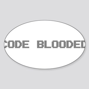 Code Blooded Sticker (Oval)