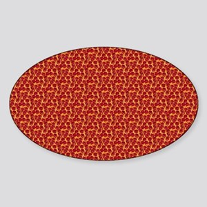 pizzas Sticker (Oval)