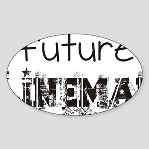 future lineman black Sticker (Oval)