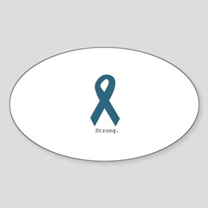 Strong. Teal Ribbon Sticker