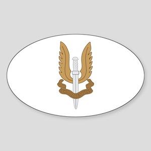 British SAS Sticker (Oval)