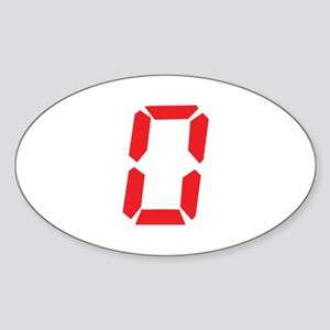 0 Zero alarm clock number Oval Sticker