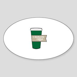 I Run On Coffee Sticker