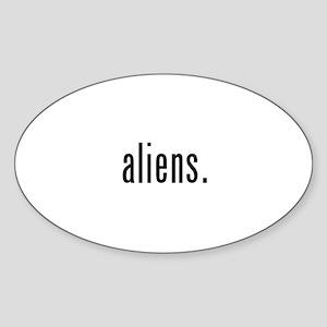Aliens Sticker (Oval)