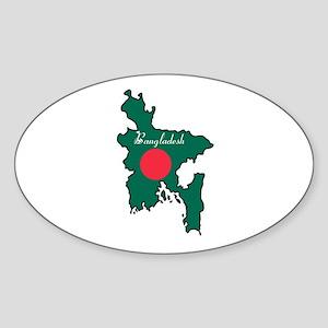 Cool Bangladesh Oval Sticker