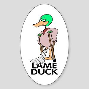 Lame Duck Sticker (oval)