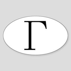 Greek Letter Gamma Oval Sticker