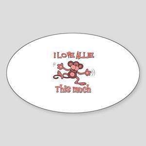 I love Allie this much Sticker (Oval)