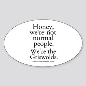 'We're The Griswolds' Sticker (Oval)