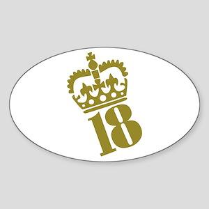 18th Birthday Oval Sticker