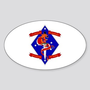 1st Battalion - 4th Marines Sticker (Oval)