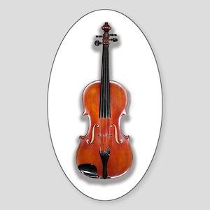 The Violin Oval Sticker